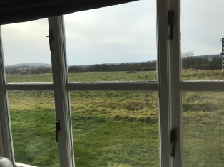 View from our Airbnb in South Downs